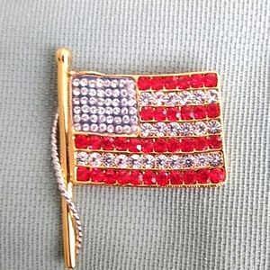 KENNETH JAY LANE FLAG PIN/PENDENT